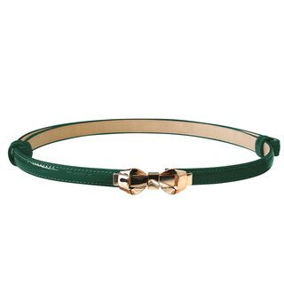 Banned Faux Leather Belt - Bitter Sweet Forest Green