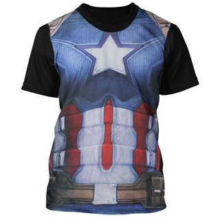 Captain America T-Shirt - Armour Costume