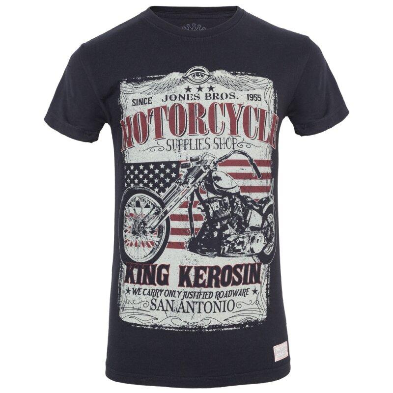 king kerosin vintage t shirt san antonio schwarz 34 95