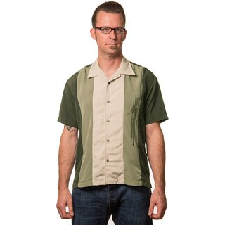 Steady Clothing Vintage Bowling Shirt - The Trinity Oliv