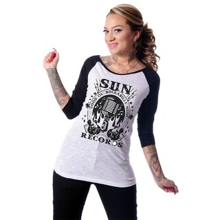 Sun Records by Steady Clothing 3/4-Arm Raglan Shirt -...