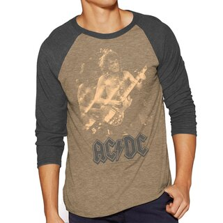 AC/DC 3/4-Arm Raglan T-Shirt - Angus Photo