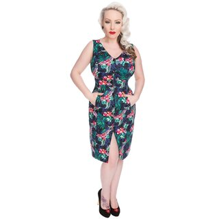 H&R London Vintage Kleid - Asiatic Lilies