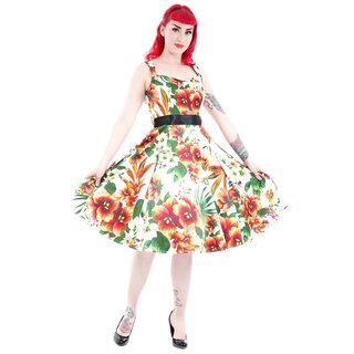 H&R London Vintage Kleid - Princess Lily Orange