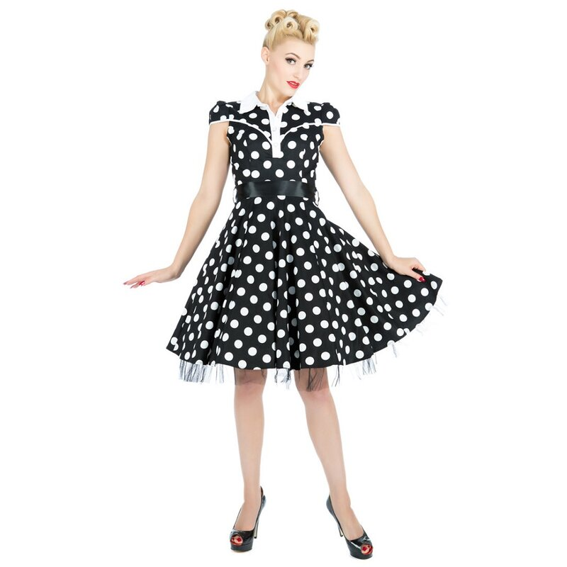 H&R London Vintage Kleid - Ethel Schwarz 36