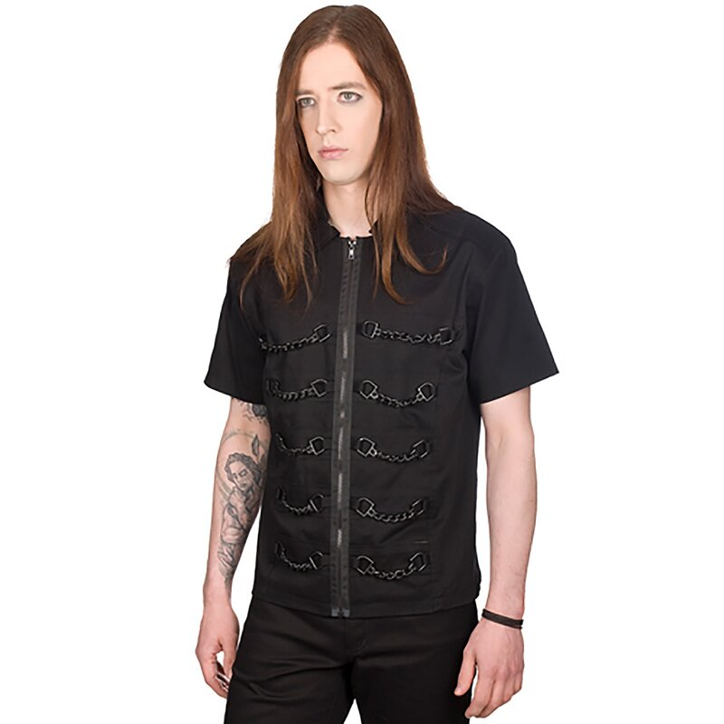 Black Pistol Gothic Hemd - Chain Shirt Denim XXL