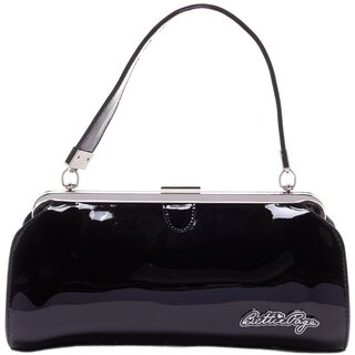Bettie Page Handbag - Cover Girl Black