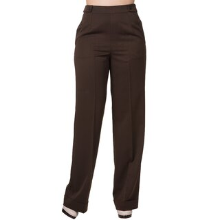 Dancing Days Marlene Trousers - Party On Brown