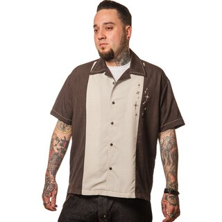 Steady Clothing Vintage Bowling Shirt - Well Noted Brown