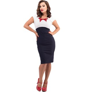 Steady Clothing Pencil Dress - Katy Navy Blue