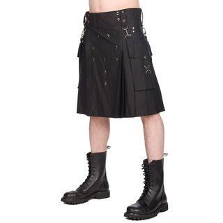 Black Pistol Kilt - Button Kilt Denim