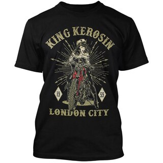 King Kerosin Regular T-Shirt - London City Schwarz