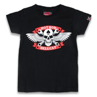 Hotrod Hellcat Kids T-Shirt - Skull Wrench