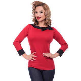 Steady Clothing Blouse - Solid Boatneck Red