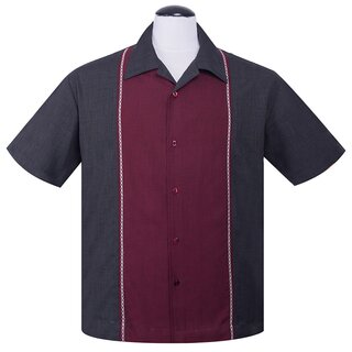 Steady Clothing Vintage Bowling Shirt - Diamond Stitch...