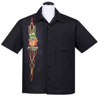 Rat Fink by Steady Clothing Vintage Bowling Shirt -...