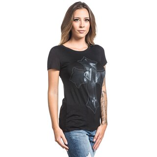Sullen Clothing Girlie Twist-Back T-Shirt - Angel Love