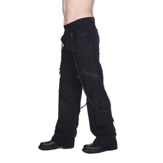Black Pistol Jeans Hose - Chain Pants Denim