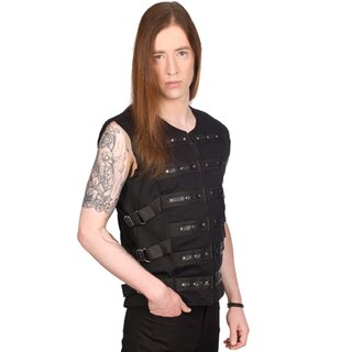 Black Pistol Gothic Weste - Button Vest