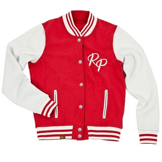Rusty Pistons Girlie College Jacket - Amberly Red