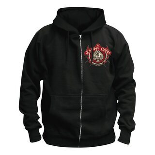 Johnny Cash Zip Hoodie - Cross Guitars