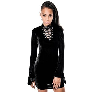Killstar Samt Kleid - Isadora Old N Cool