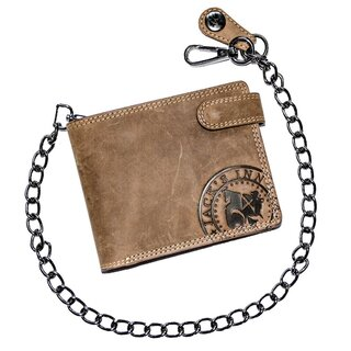 Jacks Inn 54 Leather Wallet with Chain - Vesper