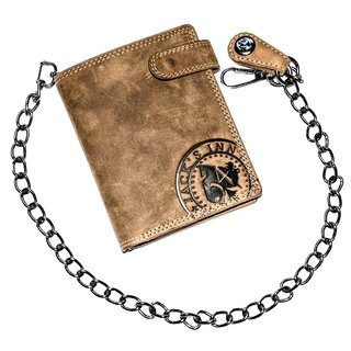 Jacks Inn 54 Leather Wallet with Chain - Negroni