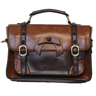 Banned Handbag - Leather Bow Light Brown