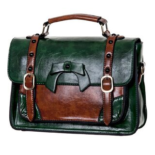 Banned Handbag - Leather Bow Light Green