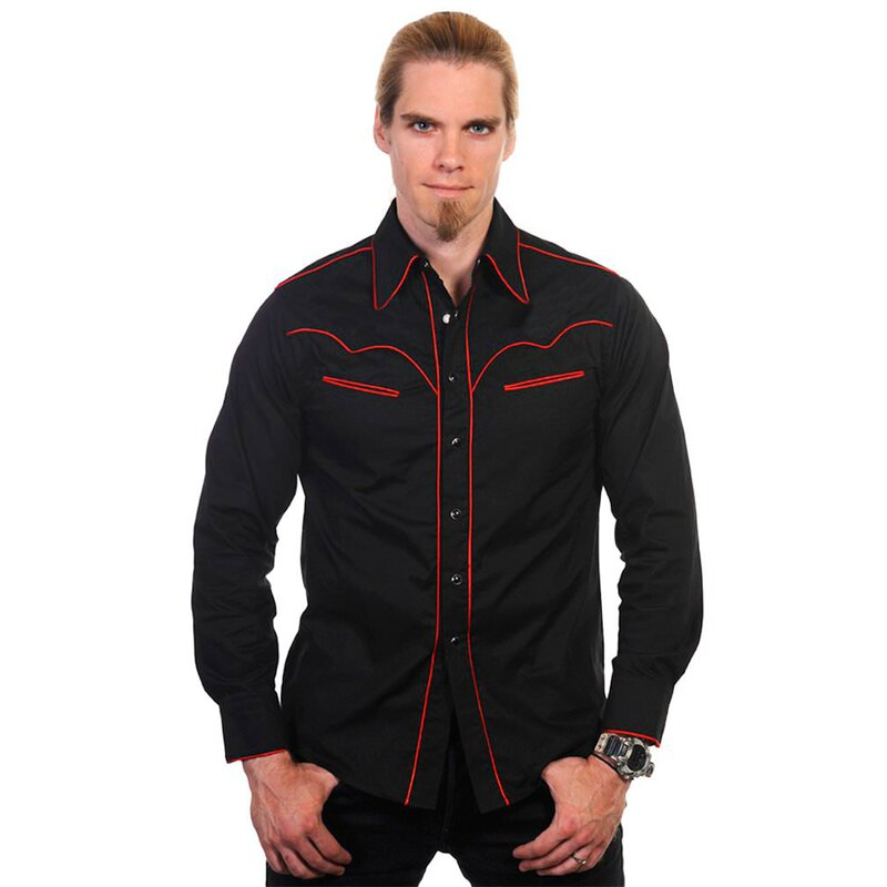 Banned Gothic Shirt - Red Trim