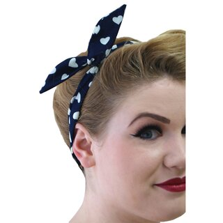 Banned Headband - Marylin Navy Blue