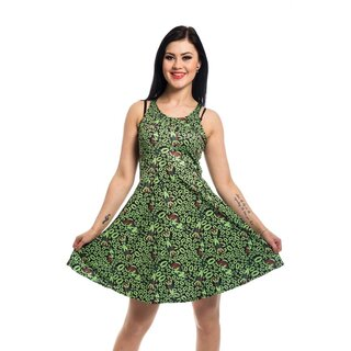 Batman Skater Dress - Poison Ivy Fatal Lips