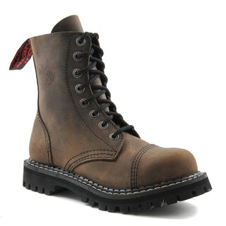 Angry Itch Leather Boots - 8-Eye Ranger Vintage Brown