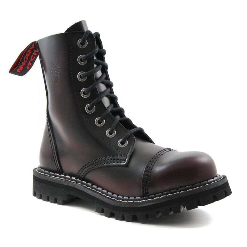 Angry Itch Leather Boots - 8-Eye Ranger Vintage Burgundy