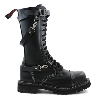 Angry Itch Leather Boots - 14-Eye Ranger Straps Black
