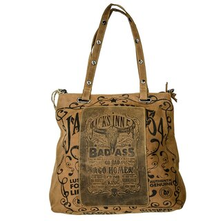 Jacks Inn 54 Leder Shopper Tasche - Americano