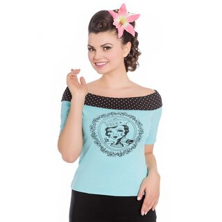 Hell Bunny T-Shirt - True Blue Top