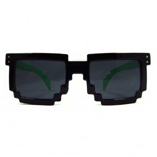 Geek Invader Pixel Glasses - 8-Bit Black-Green