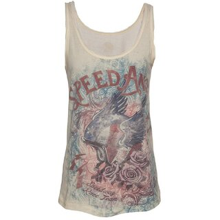Queen Kerosin Ladies Tank Top - Speed Angel Yellow