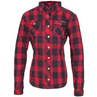 Queen Kerosin Ladies Biker Woodcutter Shirt - Speedjul Red