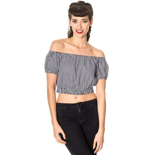 Dancing Days Crop Top - All Mine Black
