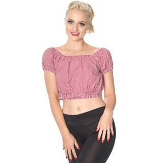 Dancing Days Crop Top - All Mine Red