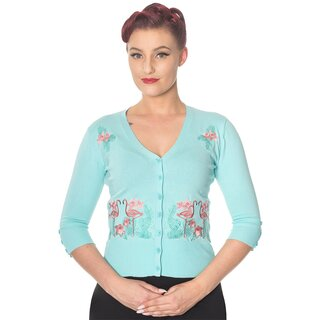 Dancing Days Cardigan - Face To Face Hellblau