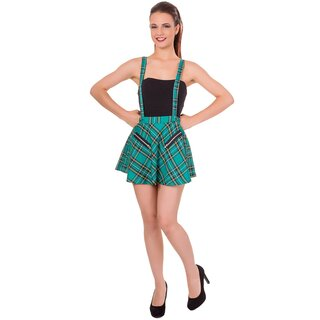 Banned Pinafore Skirt - Highlife Emerald