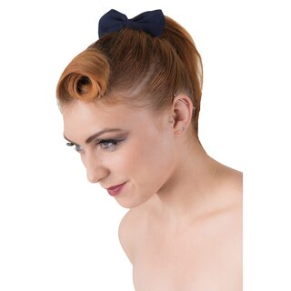 Banned Hairband - Lovestruck Navy Blue