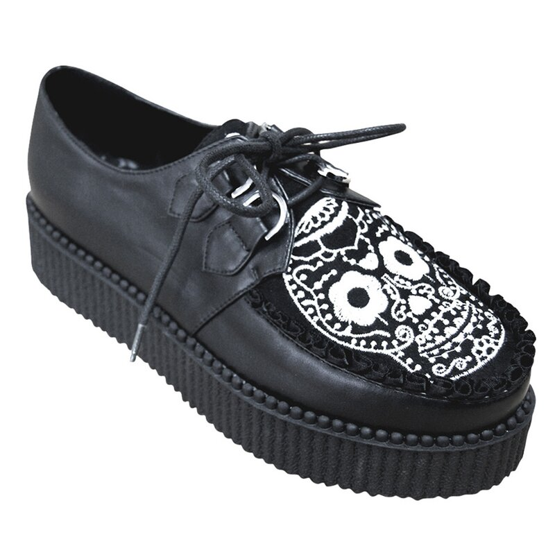 Banned Platform Sneakers - Rebel Sugar Skull, 59,90