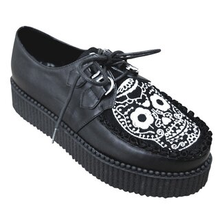 Banned Platform Sneakers - Rebel Sugar Skull