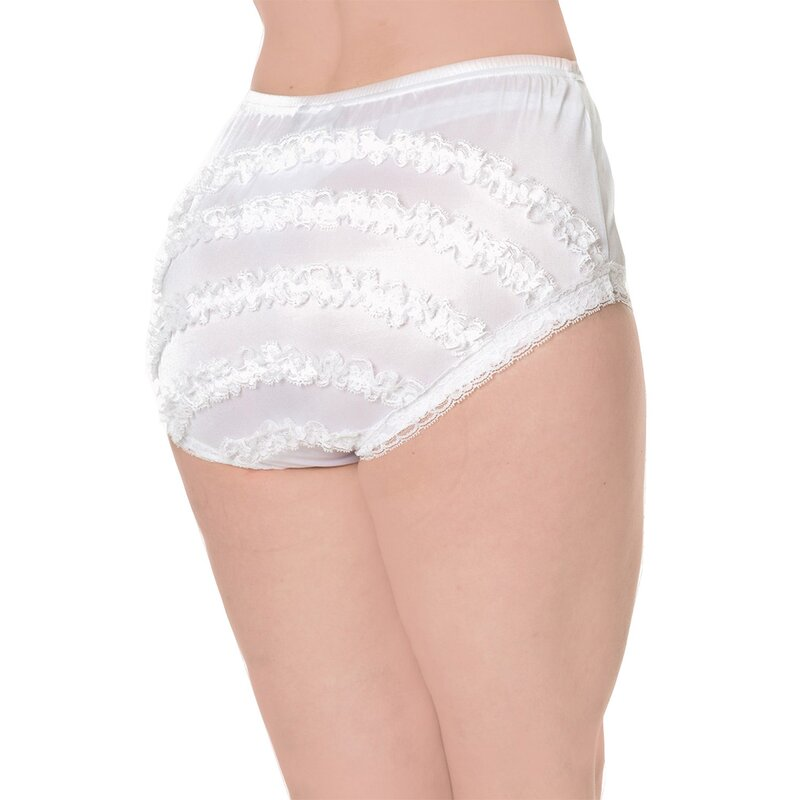 Dancing Days Panty - Frills Are Fun White