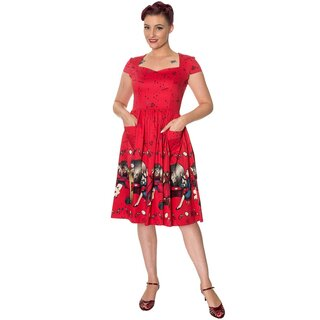 Dancing Days Vintage Kleid - Vanity Rot
